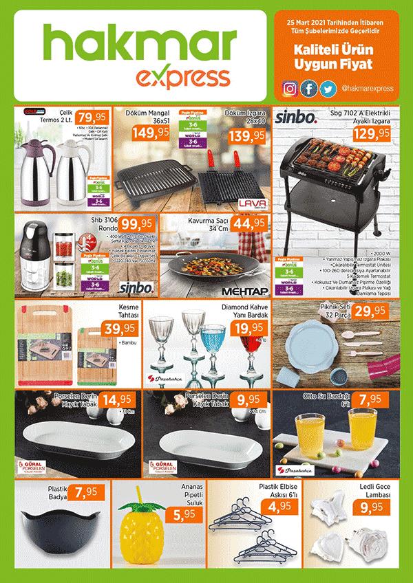 Hakmar Express Aktüel Ürünler Kataloğu - 25 Mart 2021 - Mangal ve piknik ürünleri ile mutfak ürünleri